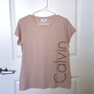 Calvin Klein soft pink tee